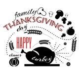 Bannière heureuse de jour de thanksgiving Photo libre de droits