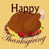 Bannière heureuse de jour de thanksgiving Photographie stock