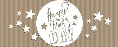 Bannière heureuse de jour du ` s de père illustration libre de droits