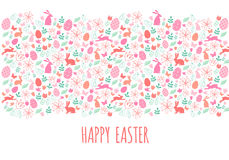 Bannière heureuse de Pâques, vecteur