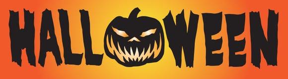 Bannière heureuse A de potiron de HALLOWEEN Images libres de droits