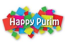 Bannière heureuse de Purim Photo stock