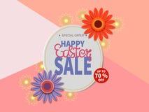 Bannière heureuse de vente de Pâques Photo libre de droits