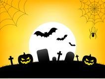Bannière heureuse des textes de Halloween, vecteur illustration libre de droits