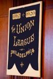 Bannière historique de la ligue des syndicats de Philadelphie Photographie stock libre de droits