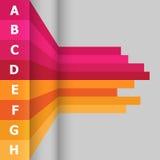 Bannière horizontale avec les lignes colorées Photographie stock libre de droits