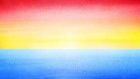 Bannière horizontale colorée lumineuse de ciel Lever de soleil ou fond brouillé par coucher du soleil de mer Le matin ou la mer e Photo libre de droits