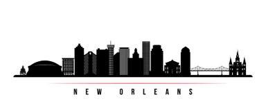 Bannière horizontale d'horizon de ville de la Nouvelle-Orléans illustration de vecteur