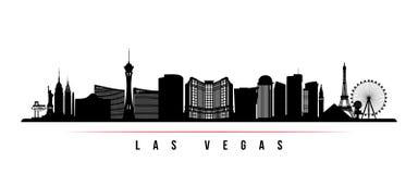 Bannière horizontale d'horizon de ville de Las Vegas illustration libre de droits