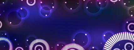 Bannière horizontale d'imagination de cercle Images stock