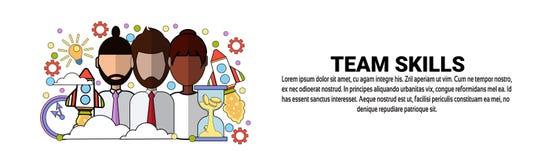 Bannière horizontale de Team Skills Development Business Concept avec l'espace de copie illustration stock