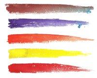 Bannière horizontale de titre d'aquarelle pour votre conception, editi de mouvement Photo libre de droits