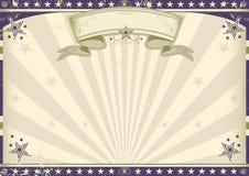 Bannière horizontale de vintage illustration stock