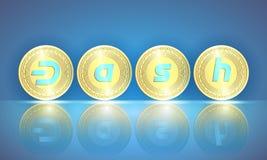 Bannière horizontale de Web avec la pièce d'or réaliste pas mentionné ailleurs illustration de vecteur
