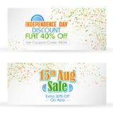 Bannière indienne à vendre et la promotion Image stock