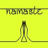 Bannière indienne Namaste de salutation illustration de vecteur