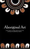 Bannière indigène d'art Bannière de vecteur avec le texte Images stock