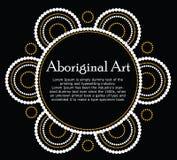 Bannière indigène de vecteur d'art photographie stock libre de droits