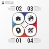 Bannière infographic moderne d'options avec le cercle Vecteur Images stock