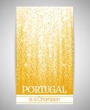 Bannière, insecte ou invitation à une partie à l'occasion de la victoire du Portugal Illustration Libre de Droits