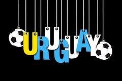 Bannière l'inscription Uruguay illustration de vecteur