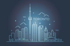 Bannière linéaire de Toronto Schéma Photos libres de droits