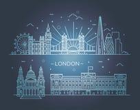 Bannière linéaire de ville de Londres Photos libres de droits