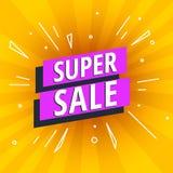 Bannière lumineuse de vente superbe d'offre spéciale Photo stock