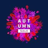 Bannière lumineuse en vente d'automne Photographie stock