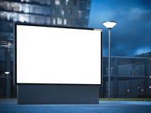 Bannière lumineuse sur la rue rendu 3d Image stock