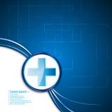Bannière médicale abstraite de fond de conception d'innovation de technologie de concept de soins de santé illustration de vecteur
