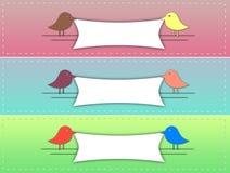 Bannière mignonne d'oiseau Photo libre de droits
