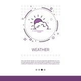 Bannière mobile de Web d'interface d'application de prévisions météorologiques avec l'espace de copie Photo libre de droits