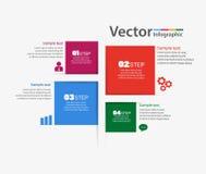 Bannière moderne d'options d'éléments d'infographics d'affaires Images libres de droits