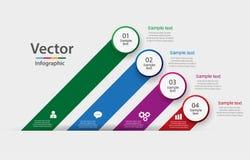 Bannière moderne d'options d'éléments d'infographics d'affaires Photos stock