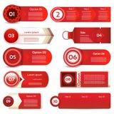 Bannière moderne d'options d'infographics Illustration de vecteur peut être employé pour la disposition de déroulement des opérat Photo libre de droits