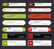Bannière moderne d'options d'infographics. Illustration de vecteur. peut être employé pour la disposition de déroulement des opéra Image libre de droits