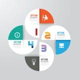 Bannière moderne d'options de conception d'infographics Illustration de vecteur Photographie stock