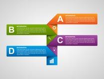 Bannière moderne d'options de graphiques et de graphiques de gestion pour l'infographics ou les présentations Photo libre de droits