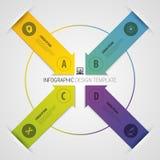 Bannière moderne d'options de nombre de style d'origami de flèche Illustration de vecteur illustration libre de droits