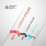 Bannière moderne d'options de style d'origami d'étape d'affaires Photographie stock