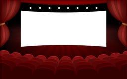 Bannière moderne de hall de cinéma Photo stock
