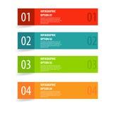 Bannière moderne simple d'options d'infographics Photographie stock libre de droits