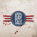 Bannière nationale de vente de Memorial Day avec le texte Images stock