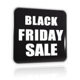 Bannière noire de noir de vente de vendredi Image libre de droits