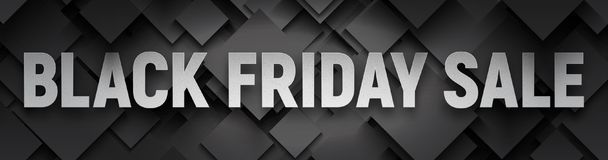 Bannière noire de vecteur de vente de vendredi Images libres de droits