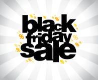 Bannière noire de vente de vendredi. Photographie stock libre de droits