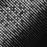 Bannière noire et blanche de dispersion d'abrégé sur points Vecteur Photographie stock libre de droits