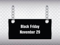 Bannière noire spéciale de vendredi Photographie stock libre de droits