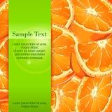 Bannière orange Photos stock